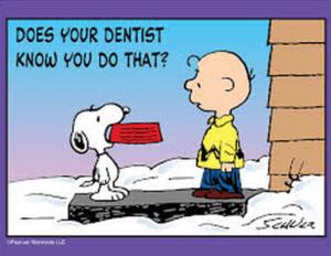 peanuts dentist